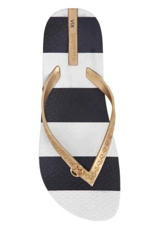 stripe flip flop