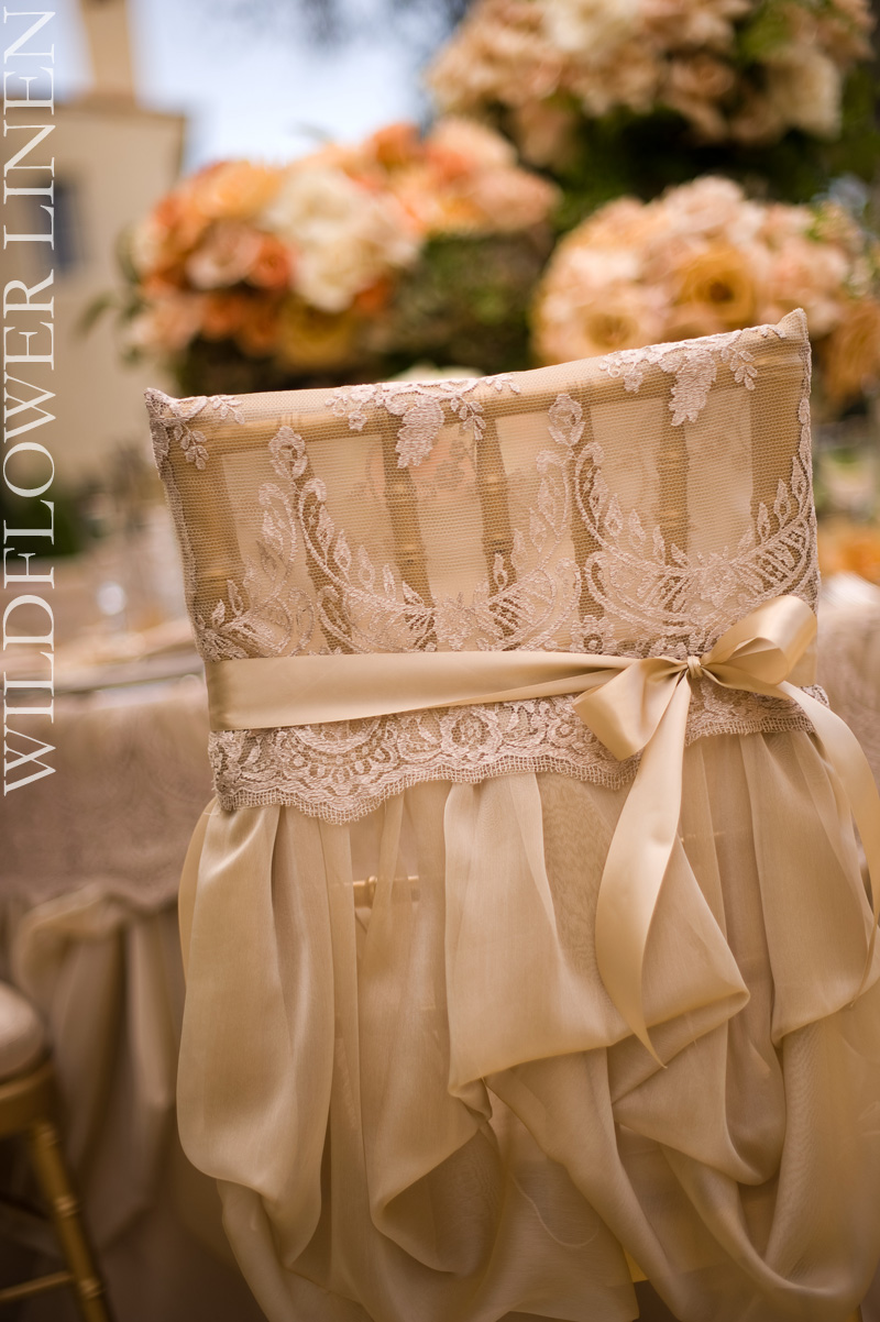 lace back wedding dress is available to wedding linens shared some beautiful sparkling and romantic chair covers from her