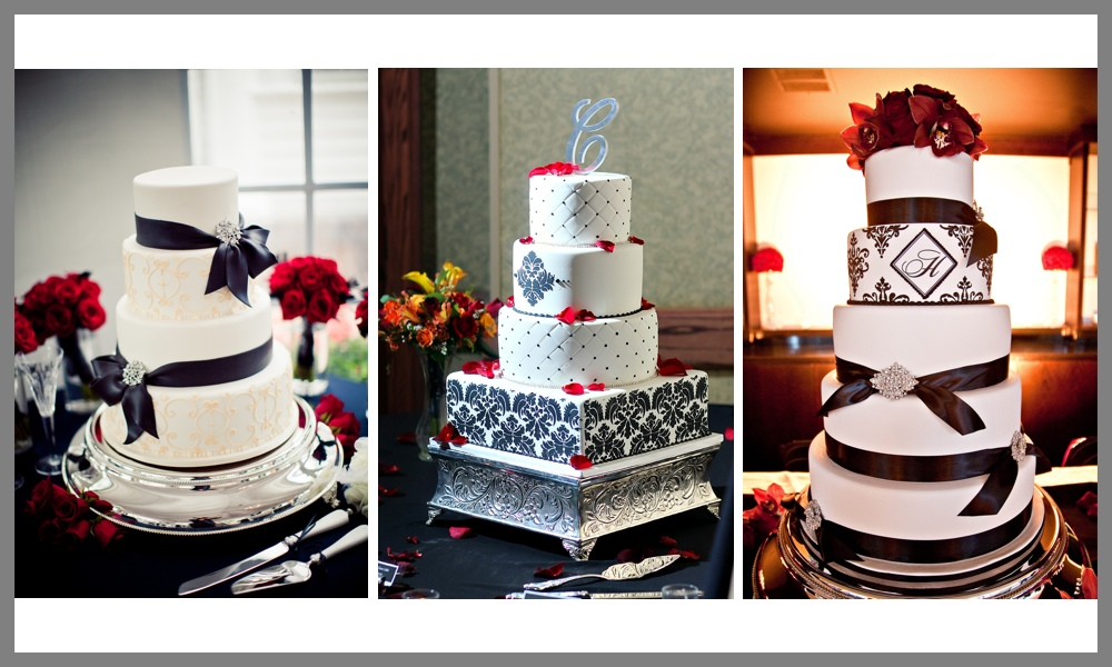 She too has designed some beautiful black and white cakes for her clients